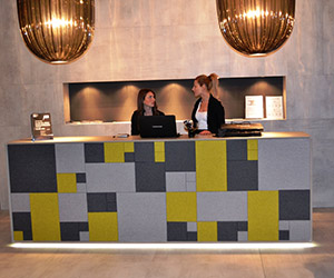 HOTEL RECEPTION TILES BOILED WOLL
