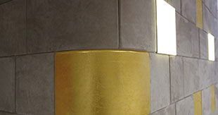 SPECIAL FINISHES GOLD AND LEATHER NABUK
