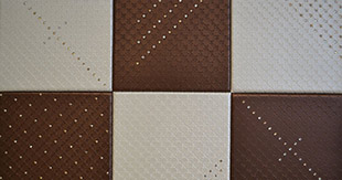 TILES ECO LEATHER WITH STRASS