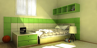CHILDREN ROOM TILES ECO LEATHER