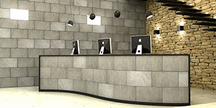 RECEPTION HOTEL TILES LEATER NABUK